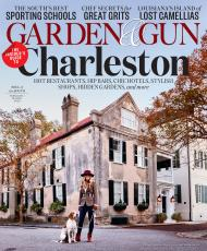 Jesup native George the Hound and his human, Alex Melesco, grace the cover of the latest issue of Garden & Gun.