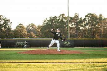 Ray Townsend pitched a solid game against Brunswick High on Friday.