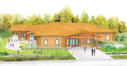 This artist's rendering, from a brochure prepared with help from the University of Georgia's Carl Vinson Institute of Government, shows the future home of the proposed Altamaha Nature and History Center at Jaycee Landing.