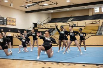 WCHS Competition cheer team
