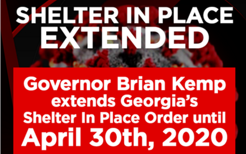 Georgia Governor To Extend Shelter In Place Through April 30 Amid